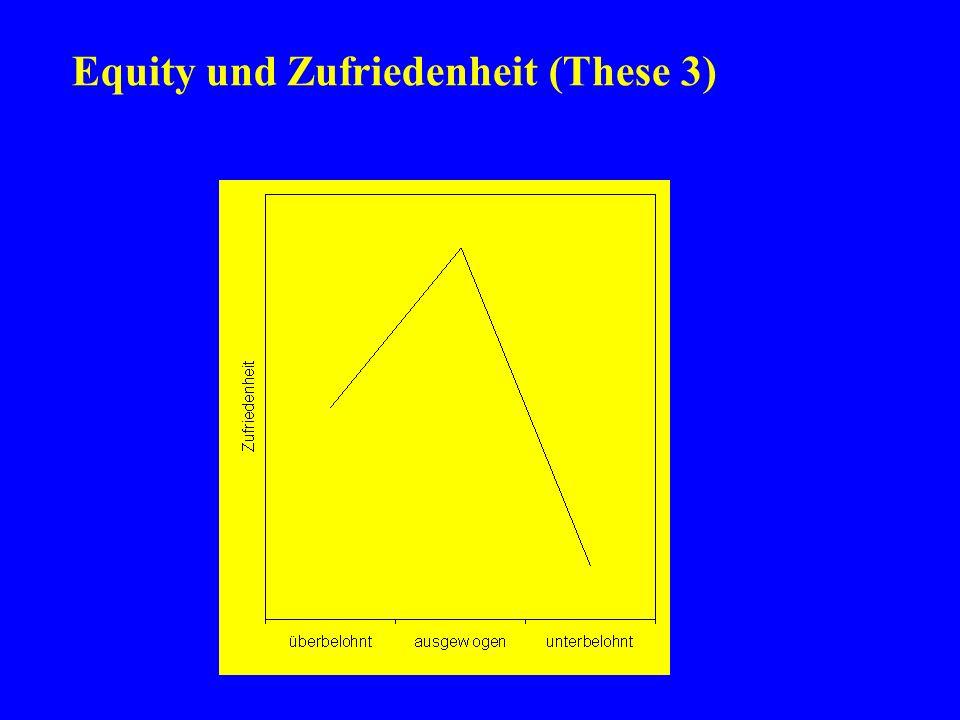 Equity und Zufriedenheit (These 3)