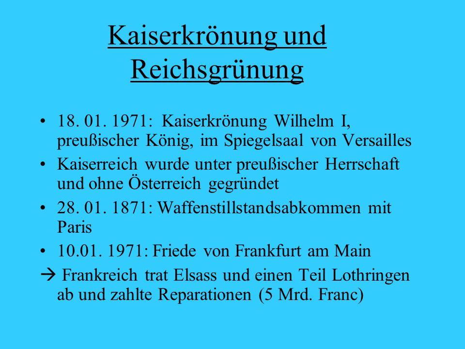 Kaiserkrönung und Reichsgrünung 18.01.