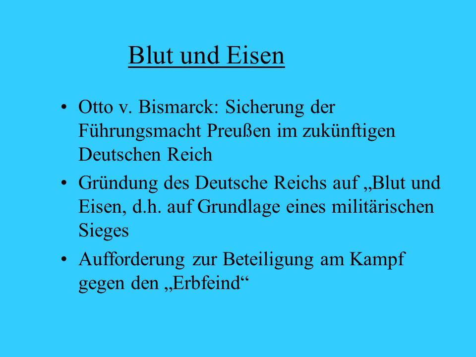 Blut und Eisen Otto v.