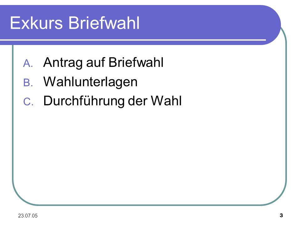 23.07.054 Antrag auf Briefwahl Antrag auf Rückseite der Wahlbenach- richtigung Briefwahl kann beantragt werden bei Verhinderung am Wahltag (z.B.