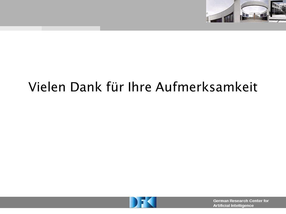German Research Center for Artificial Intelligence Vielen Dank für Ihre Aufmerksamkeit