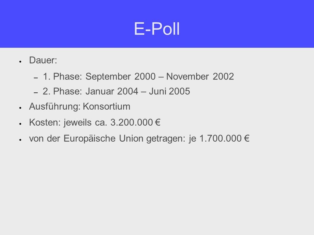 E-Poll Zusammensetzung des Konsortiums (1.