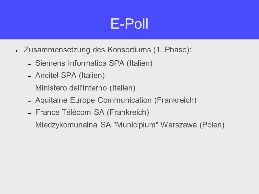 E-Poll Zusammensetzung des Konsortiums (2.