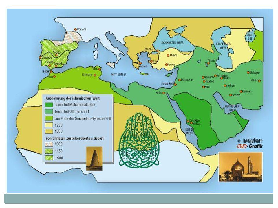 Missionare und Mönche verbreiteten das Christentum. Nach dem Tode Mohammeds verbreiteten arabische Heere und Händler den Islam, der die dortige Gesell