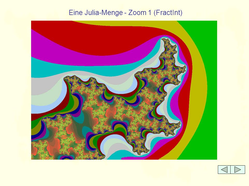 Eine Julia-Menge - Zoom 1 (FractInt)