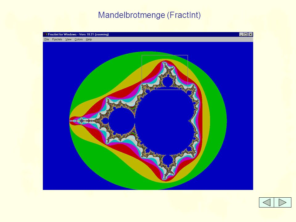 Mandelbrotmenge - Zoom 1 (FractInt)