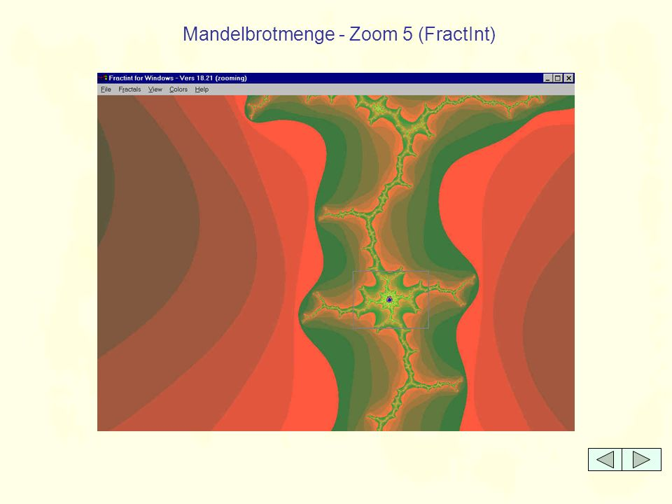 Eine Julia-Menge - Zoom 1 (FractInt)