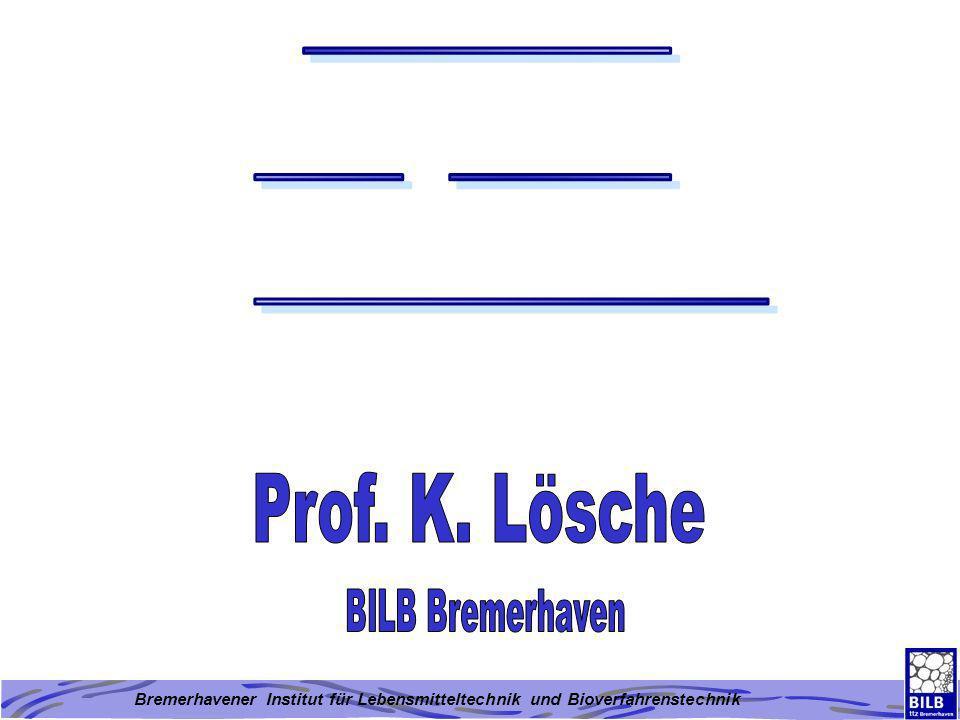 Bremerhavener Institut für Lebensmitteltechnik und Bioverfahrenstechnik Abbildung 5: Übersicht über die historische Entwicklung des Einsatzes von Enzymen bei der Backwarenherstellung überschüssiges Wasser 60°C Verkleisterungstemperatur Wassergehalt