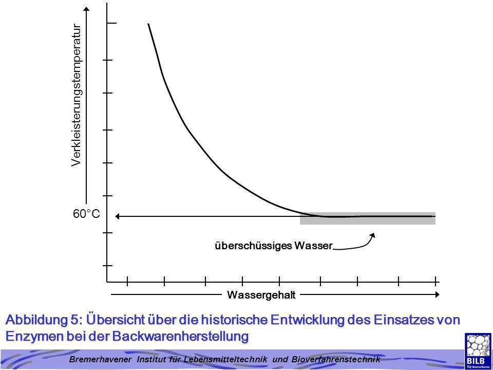 Bremerhavener Institut für Lebensmitteltechnik und Bioverfahrenstechnik Abbildung 5: Übersicht über die historische Entwicklung des Einsatzes von Enzy