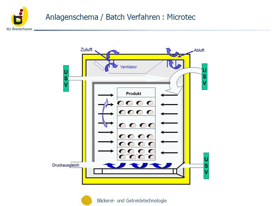 Bäckerei- und Getreidetechnologie Anlagenschema / Batch Verfahren : Microtec