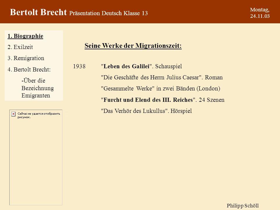 Montag, 24.11.03 1938