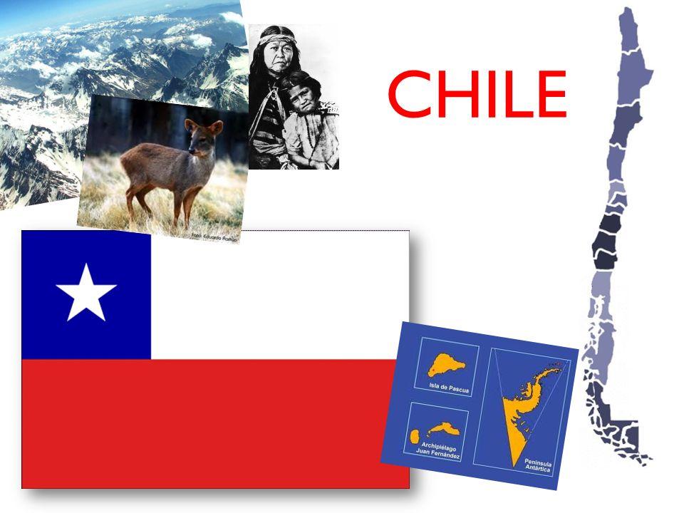 Information 4.270 km lang 756.102,4 km² Nachbarländer: Peru, Bolivien, Argentinien Einwohner: 17 Millionen 15 Regionen Haupstadt: Santiago (mehr als 6 Millionen Einwohner)