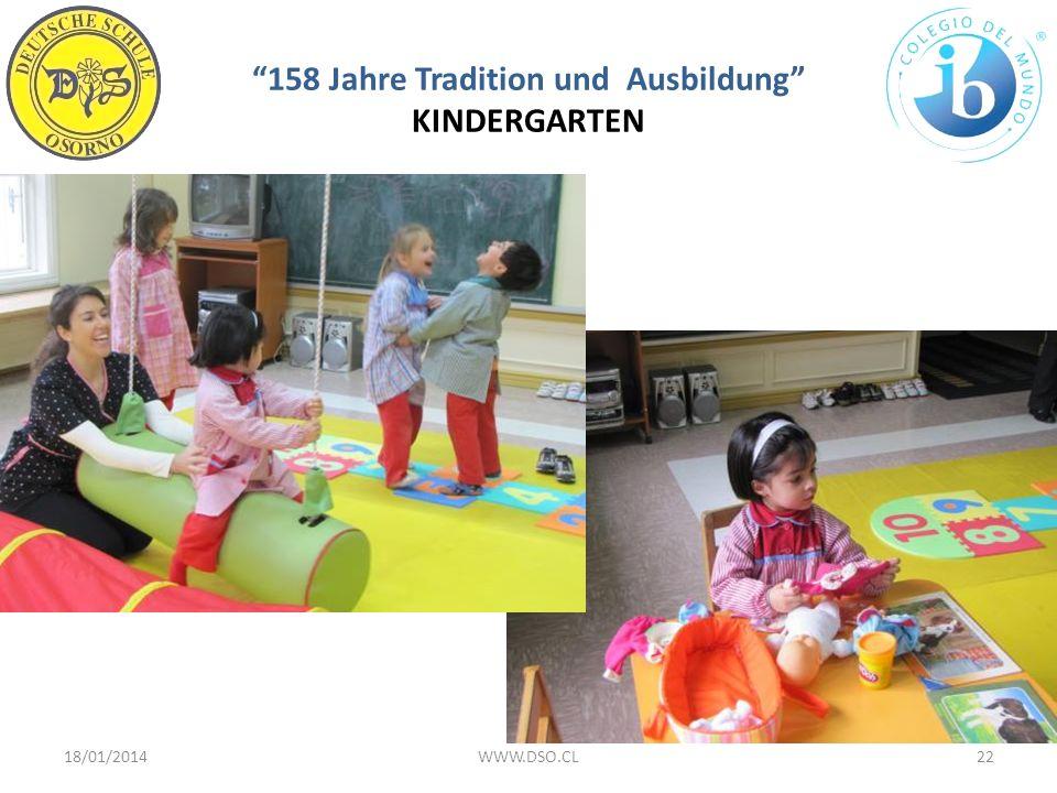 158 Jahre Tradition und Ausbildung KINDERGARTEN 18/01/201422WWW.DSO.CL