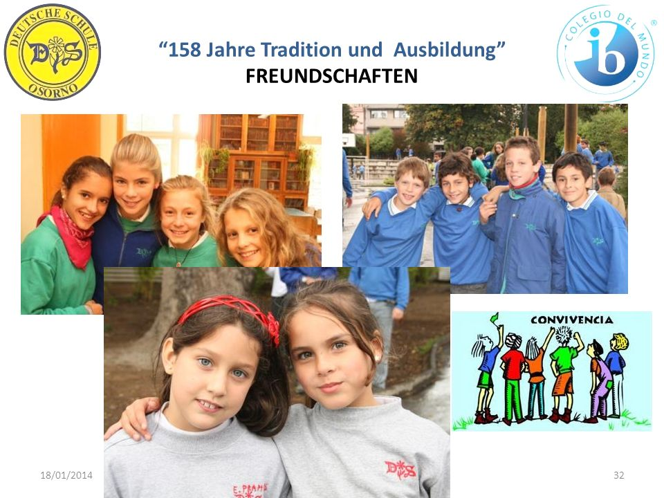 158 Jahre Tradition und Ausbildung FREUNDSCHAFTEN 18/01/201432WWW.DSO.CL