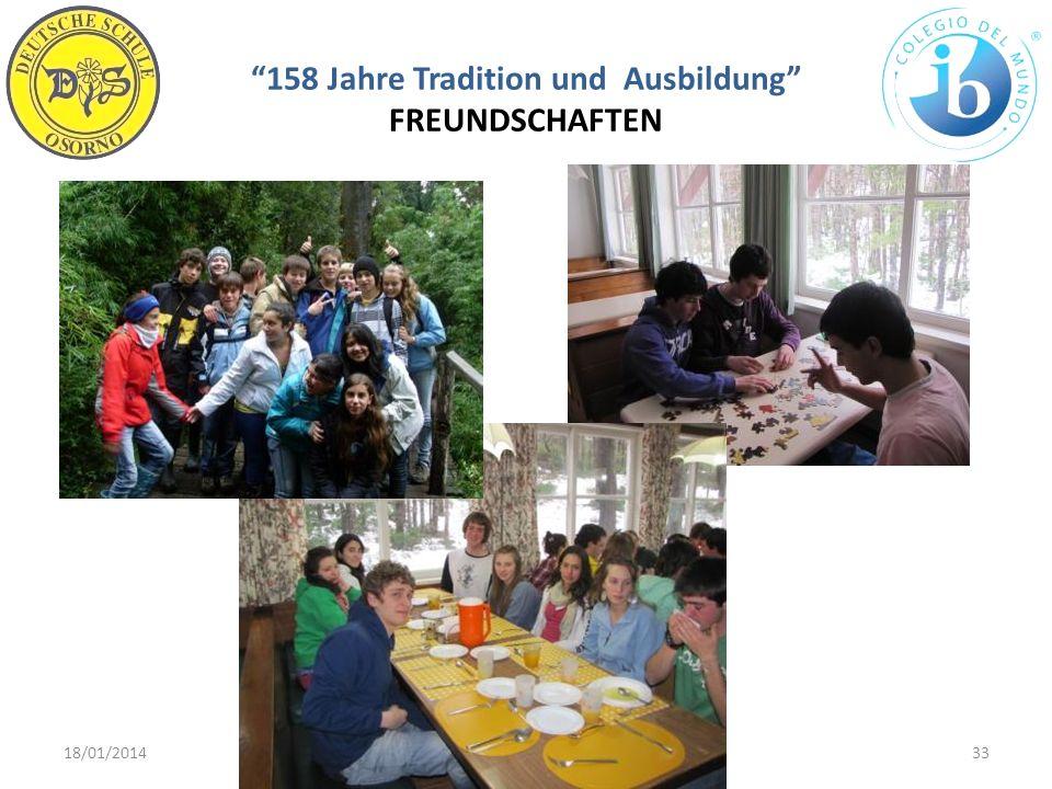 158 Jahre Tradition und Ausbildung FREUNDSCHAFTEN 18/01/201433WWW.DSO.CL