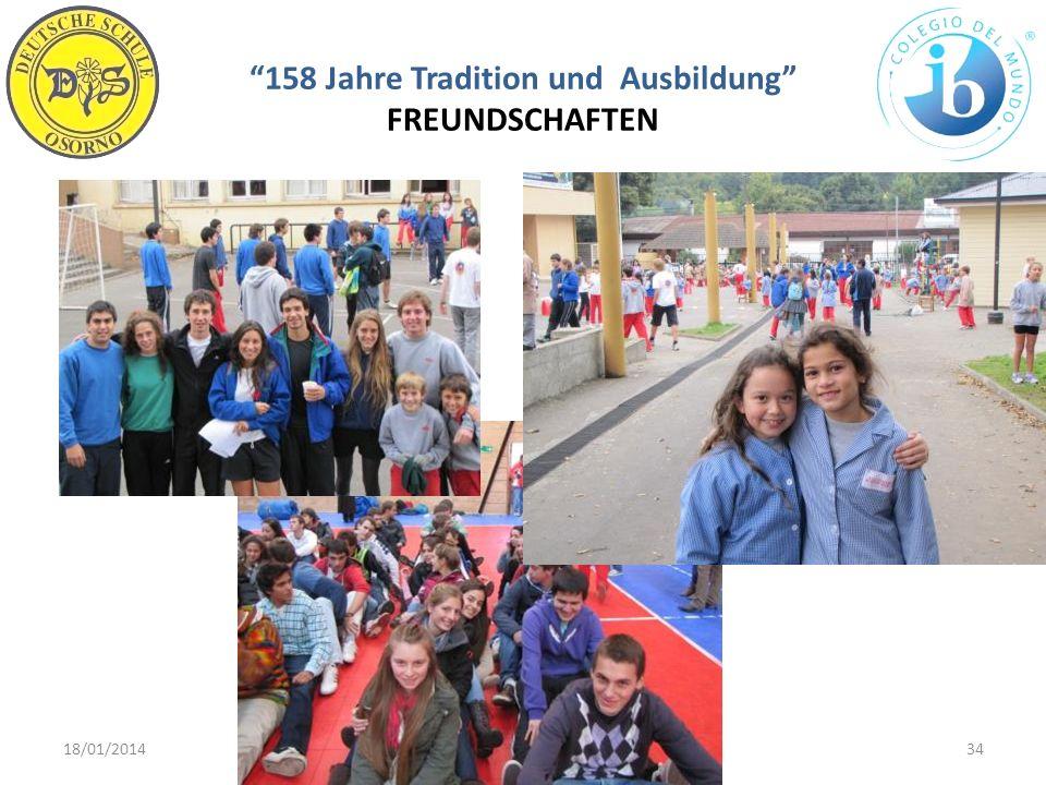 158 Jahre Tradition und Ausbildung FREUNDSCHAFTEN 18/01/201434WWW.DSO.CL