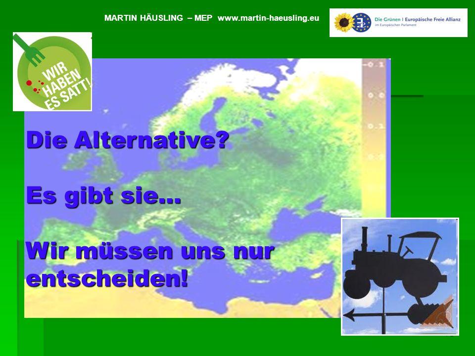 13 Veränderung 2003 -2009 in Prozent MARTIN HÄUSLING – MEP www.martin-haeusling.eu Die Alternative? Es gibt sie… Wir müssen uns nur entscheiden!