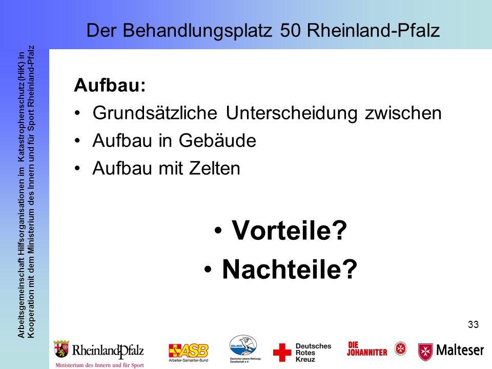 Arbeitsgemeinschaft Hilfsorganisationen im Katastrophenschutz (HiK) in Kooperation mit dem Ministerium des Innern und für Sport Rheinland-Pfalz 33 Auf