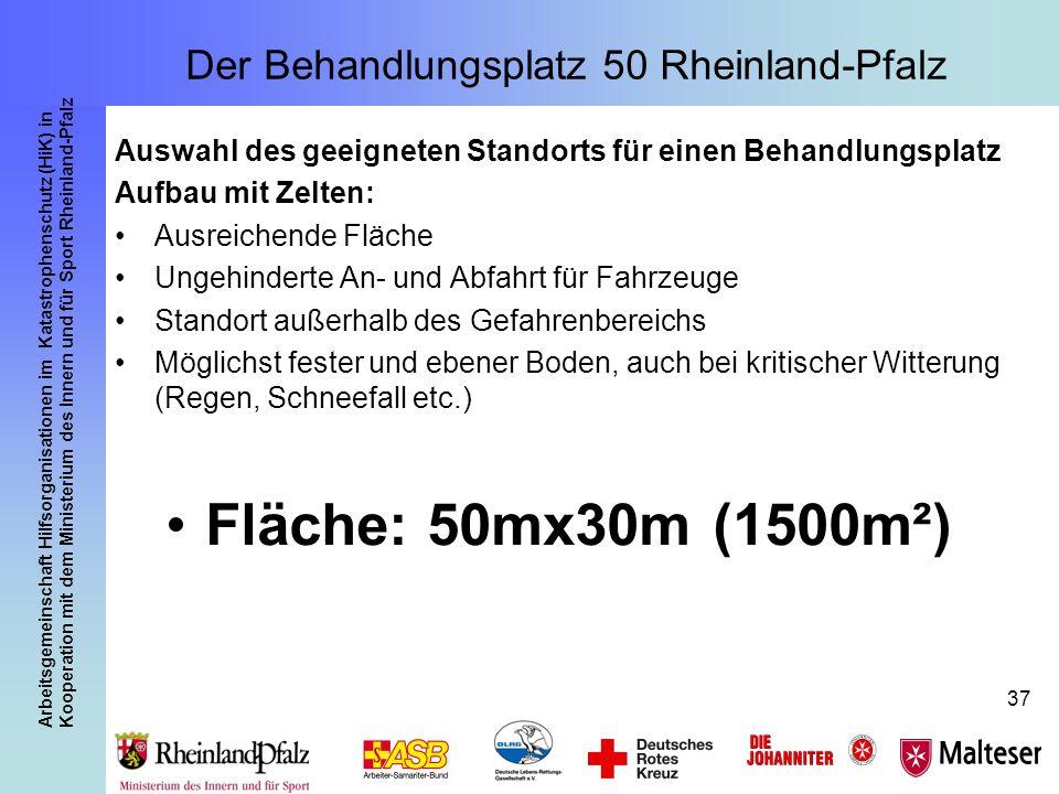 Arbeitsgemeinschaft Hilfsorganisationen im Katastrophenschutz (HiK) in Kooperation mit dem Ministerium des Innern und für Sport Rheinland-Pfalz 37 Aus