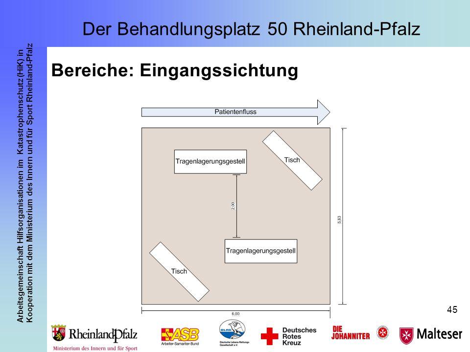 Arbeitsgemeinschaft Hilfsorganisationen im Katastrophenschutz (HiK) in Kooperation mit dem Ministerium des Innern und für Sport Rheinland-Pfalz 45 Ber