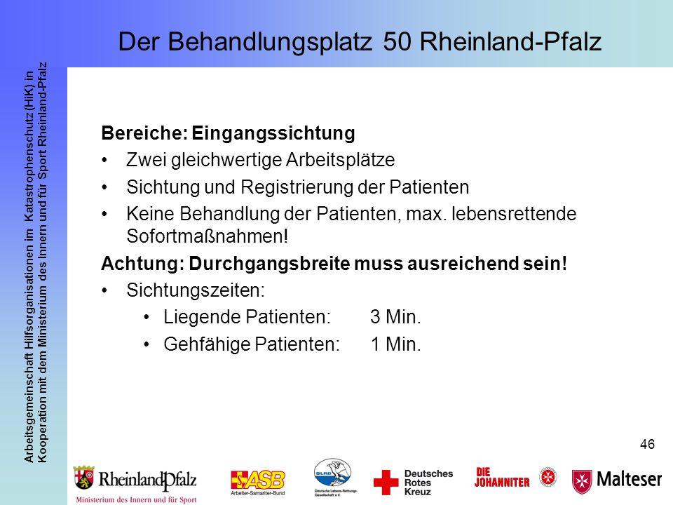 Arbeitsgemeinschaft Hilfsorganisationen im Katastrophenschutz (HiK) in Kooperation mit dem Ministerium des Innern und für Sport Rheinland-Pfalz 46 Ber