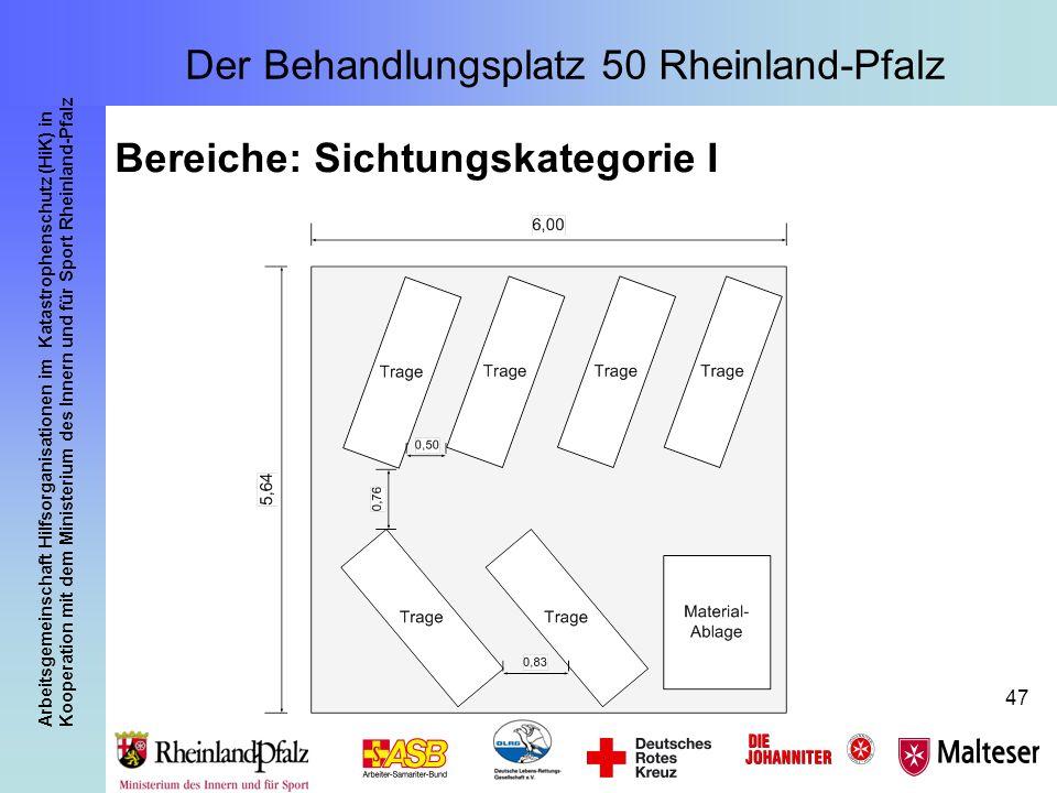 Arbeitsgemeinschaft Hilfsorganisationen im Katastrophenschutz (HiK) in Kooperation mit dem Ministerium des Innern und für Sport Rheinland-Pfalz 47 Ber