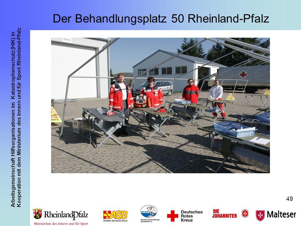 Arbeitsgemeinschaft Hilfsorganisationen im Katastrophenschutz (HiK) in Kooperation mit dem Ministerium des Innern und für Sport Rheinland-Pfalz 49 Der