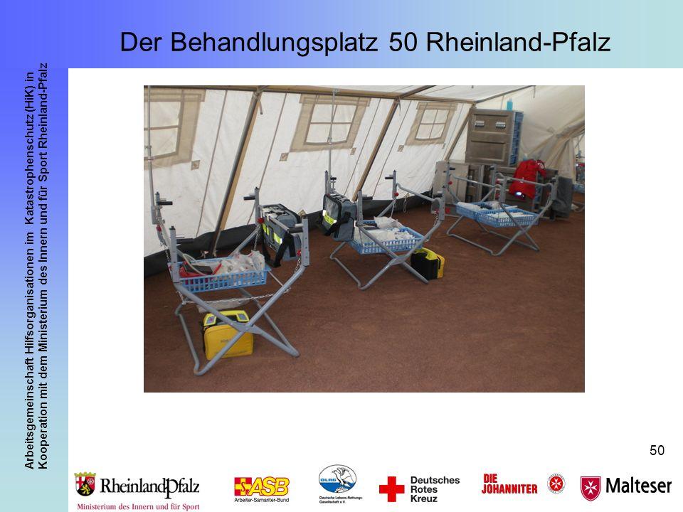 Arbeitsgemeinschaft Hilfsorganisationen im Katastrophenschutz (HiK) in Kooperation mit dem Ministerium des Innern und für Sport Rheinland-Pfalz 50 Der