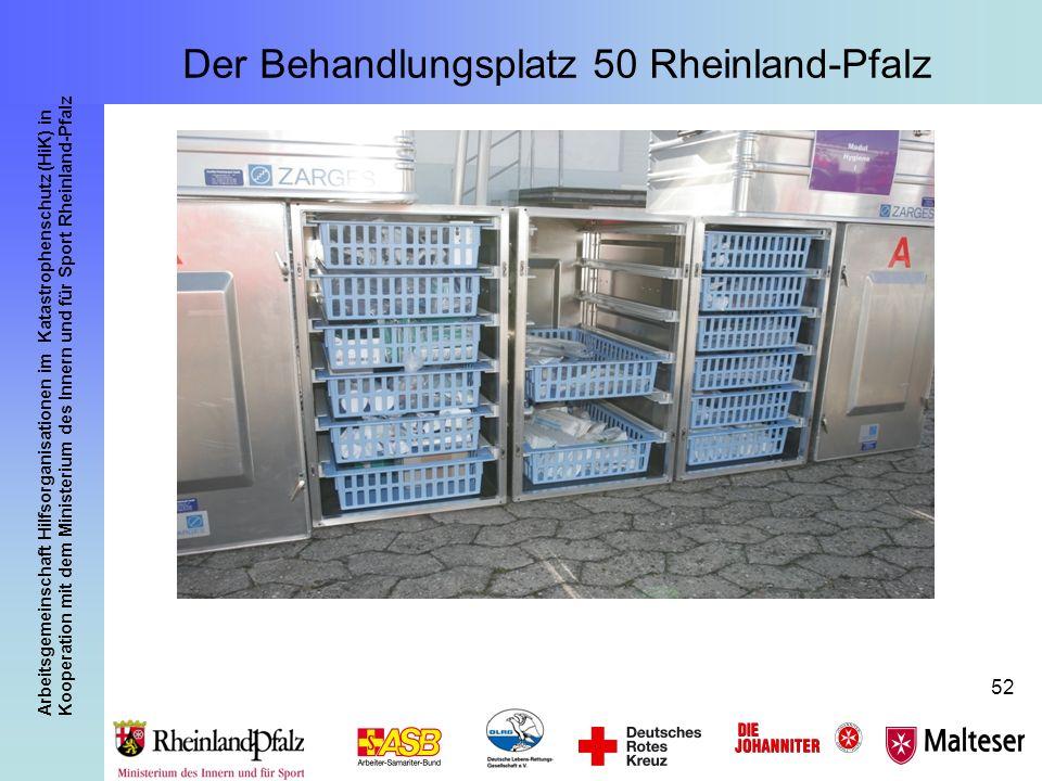 Arbeitsgemeinschaft Hilfsorganisationen im Katastrophenschutz (HiK) in Kooperation mit dem Ministerium des Innern und für Sport Rheinland-Pfalz 52 Der
