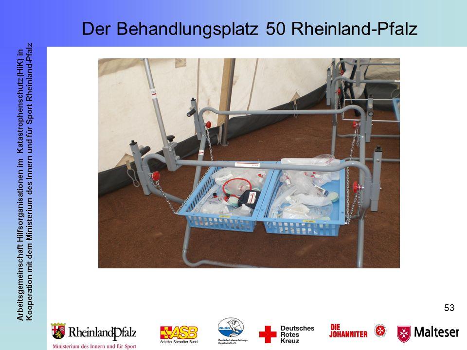 Arbeitsgemeinschaft Hilfsorganisationen im Katastrophenschutz (HiK) in Kooperation mit dem Ministerium des Innern und für Sport Rheinland-Pfalz 53 Der