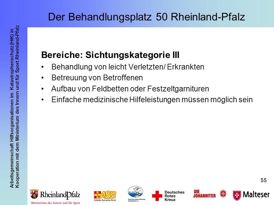 Arbeitsgemeinschaft Hilfsorganisationen im Katastrophenschutz (HiK) in Kooperation mit dem Ministerium des Innern und für Sport Rheinland-Pfalz 55 Ber