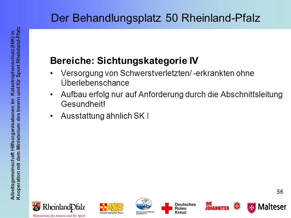 Arbeitsgemeinschaft Hilfsorganisationen im Katastrophenschutz (HiK) in Kooperation mit dem Ministerium des Innern und für Sport Rheinland-Pfalz 56 Ber