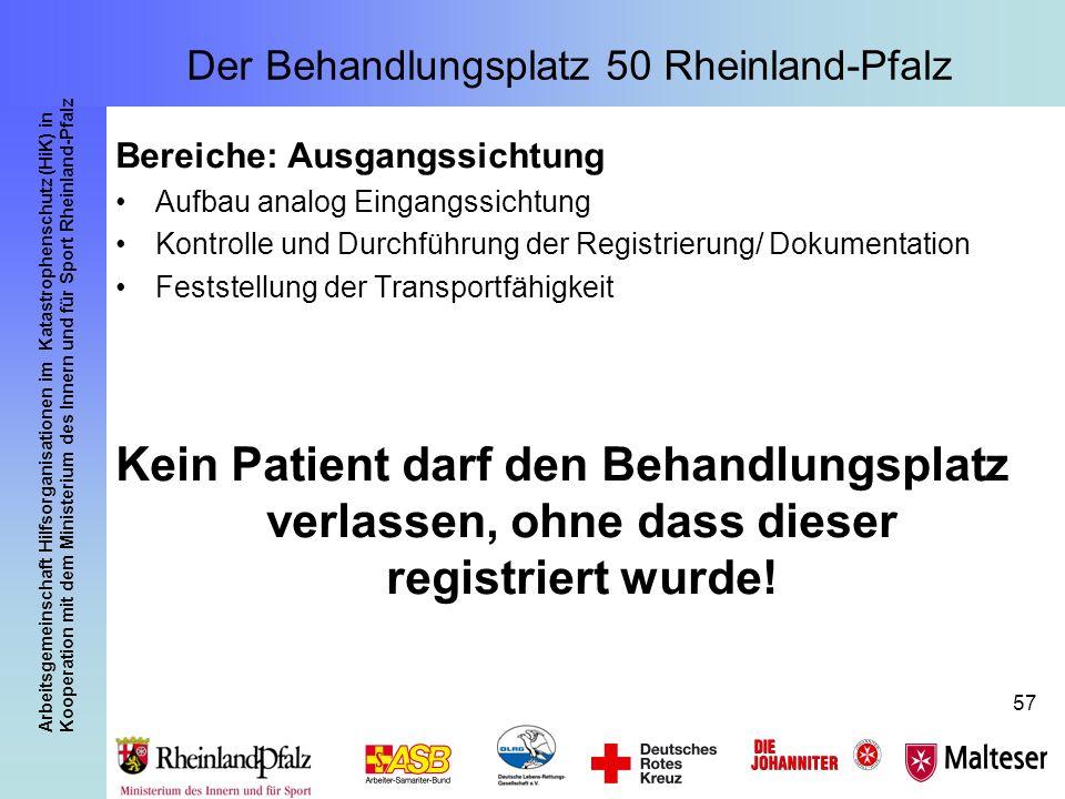 Arbeitsgemeinschaft Hilfsorganisationen im Katastrophenschutz (HiK) in Kooperation mit dem Ministerium des Innern und für Sport Rheinland-Pfalz 57 Ber