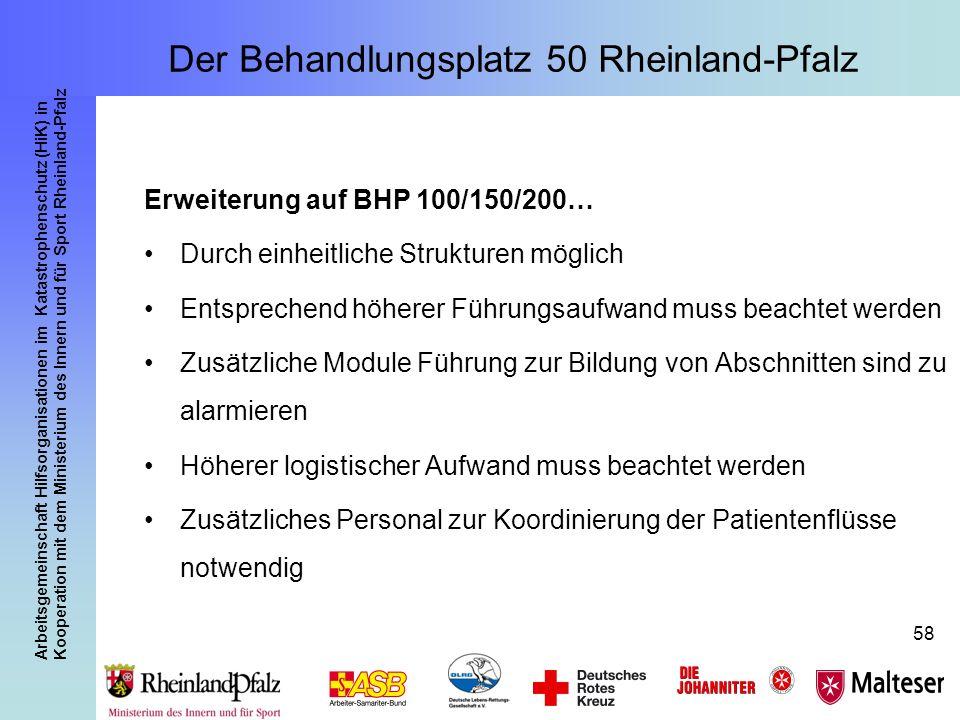 Arbeitsgemeinschaft Hilfsorganisationen im Katastrophenschutz (HiK) in Kooperation mit dem Ministerium des Innern und für Sport Rheinland-Pfalz 58 Erw