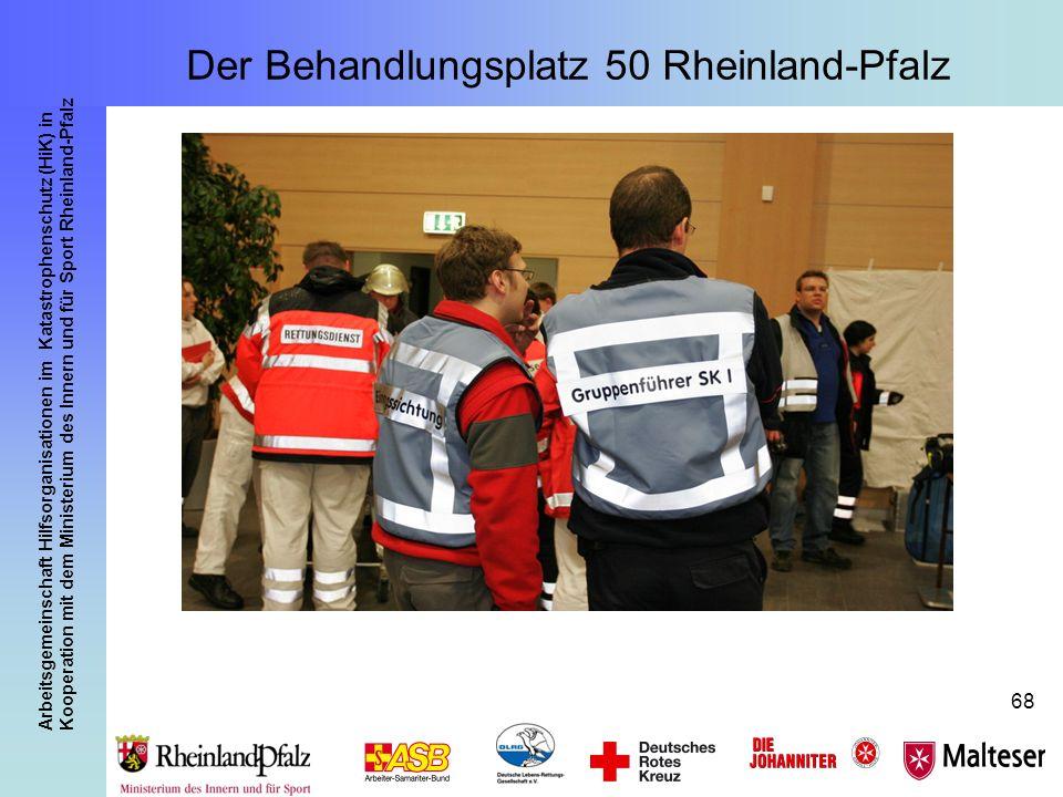 Arbeitsgemeinschaft Hilfsorganisationen im Katastrophenschutz (HiK) in Kooperation mit dem Ministerium des Innern und für Sport Rheinland-Pfalz 68 Der