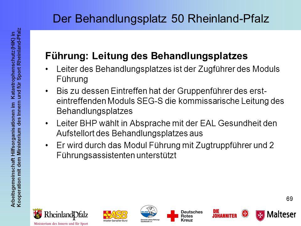 Arbeitsgemeinschaft Hilfsorganisationen im Katastrophenschutz (HiK) in Kooperation mit dem Ministerium des Innern und für Sport Rheinland-Pfalz 69 Füh