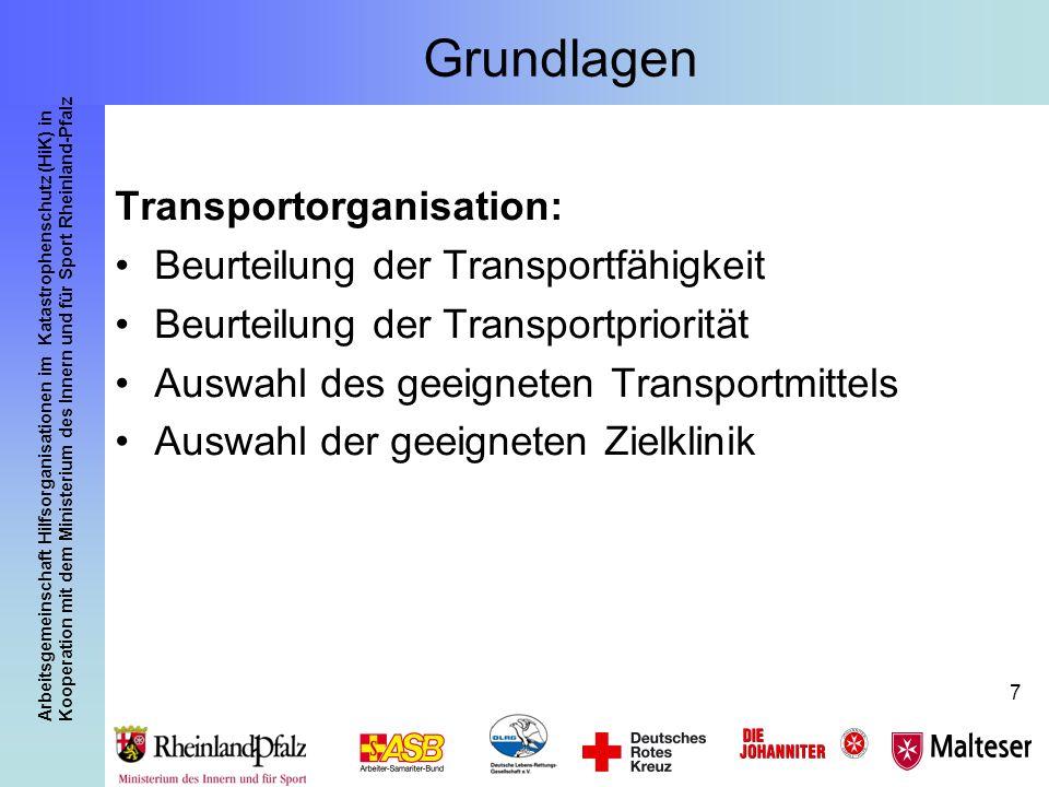 Arbeitsgemeinschaft Hilfsorganisationen im Katastrophenschutz (HiK) in Kooperation mit dem Ministerium des Innern und für Sport Rheinland-Pfalz 7 Grun