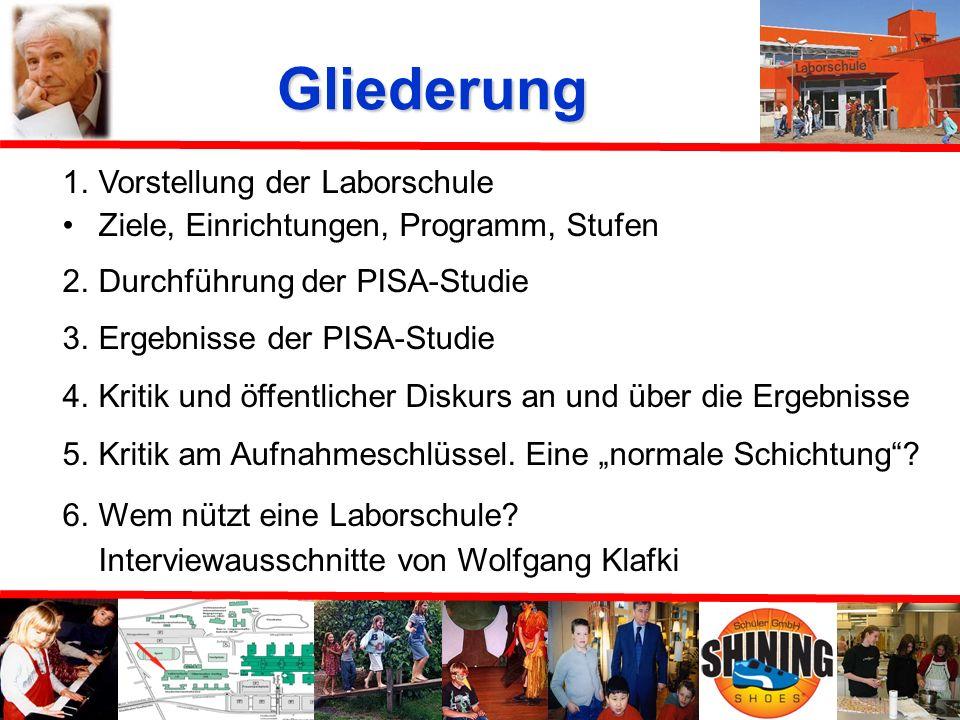 Die Bielefelder Laborschule im Spiegel ihrer PISA- Ergebnisse Referenten: F. Ramm J. Körtner S.Papenfuß