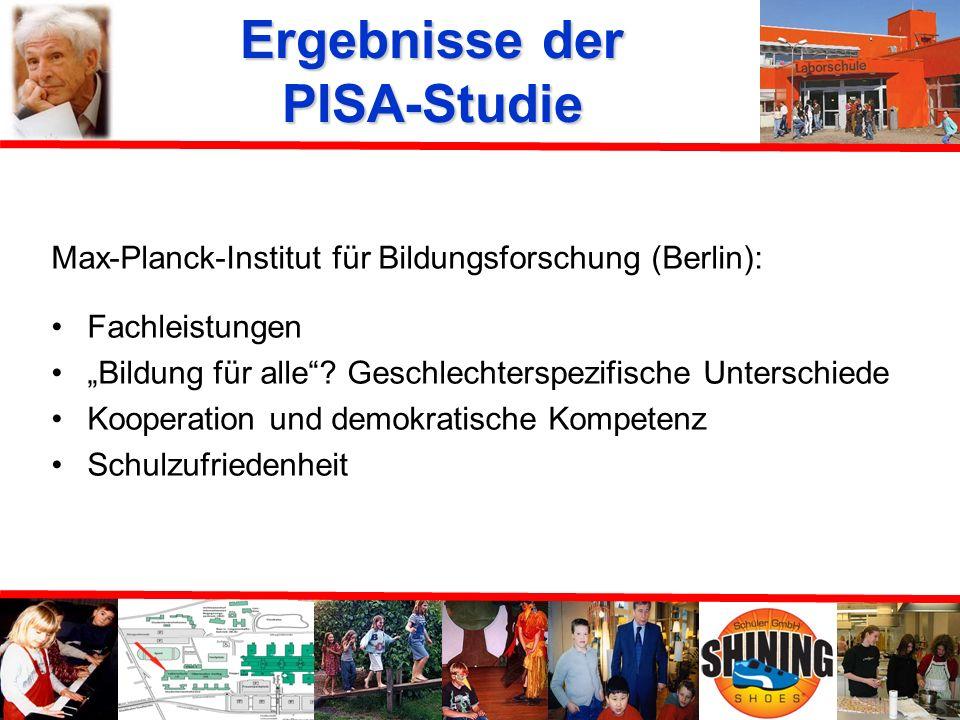 Durchführung der PISA-Studie Dauer der Erhebung: jeweils ca. 3 Stunden an DPC in Hamburg geschickt Elternfragebogen Erwartungswerte werden geschätzt t
