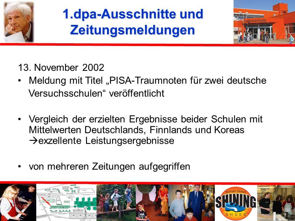 Kritik und öffentlicher Diskurs an und über die Ergebnisse 1.dpa-Ausschnitte und Zeitungsmeldungen 2.Stellungnahme des Max-Planck-Institutes 3.Deutsch