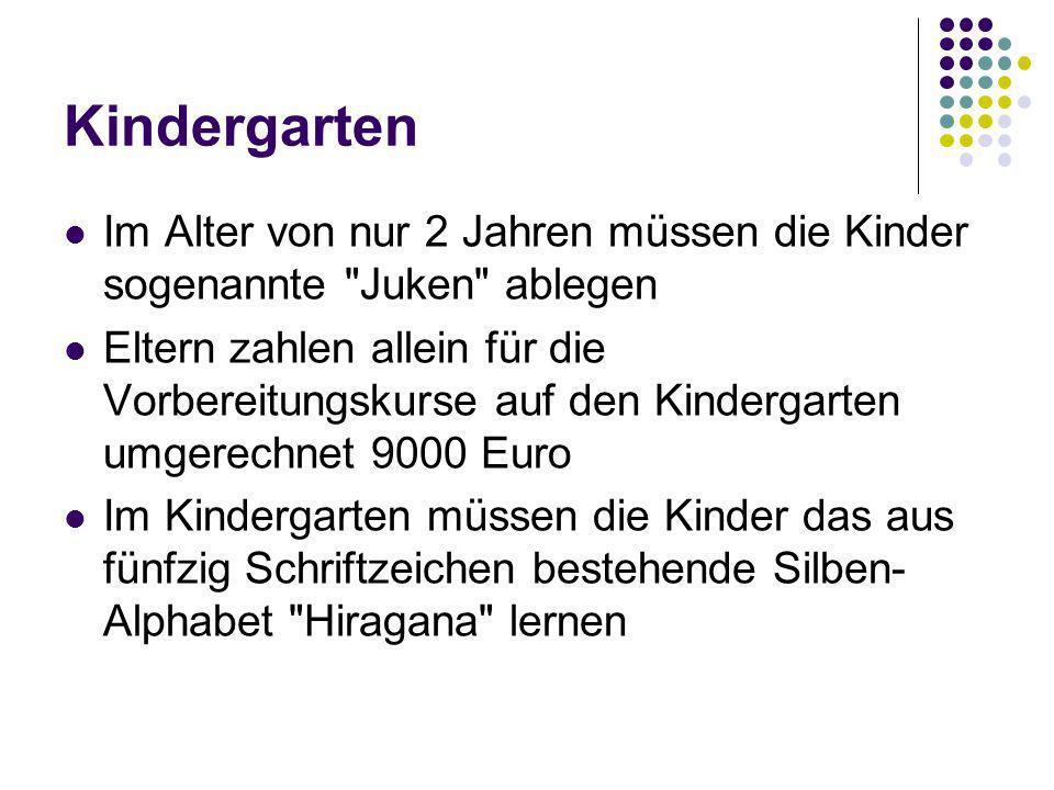 Kindergarten Im Alter von nur 2 Jahren müssen die Kinder sogenannte