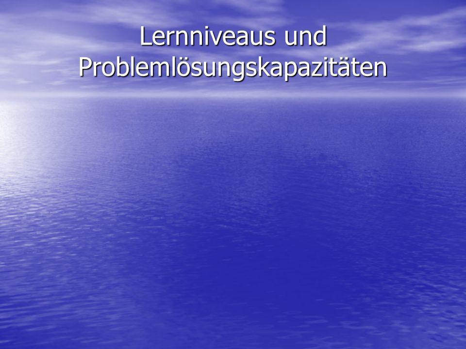 Lernniveaus und Problemlösungskapazitäten