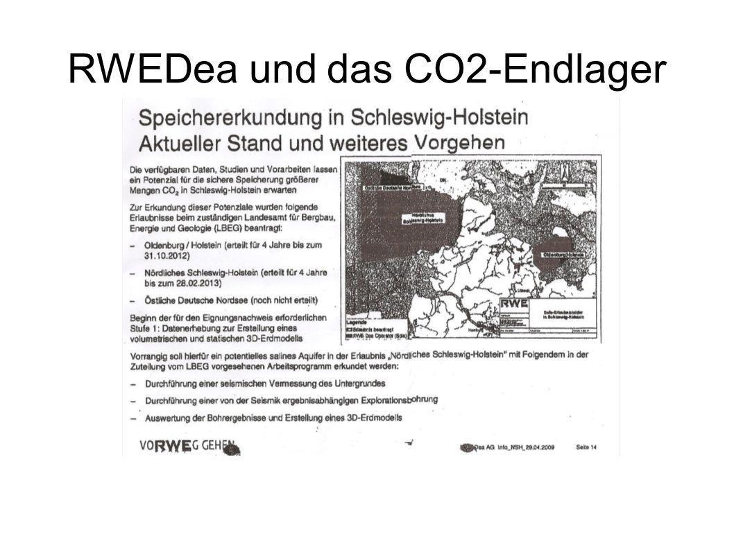 RWEDea und das CO2-Endlager