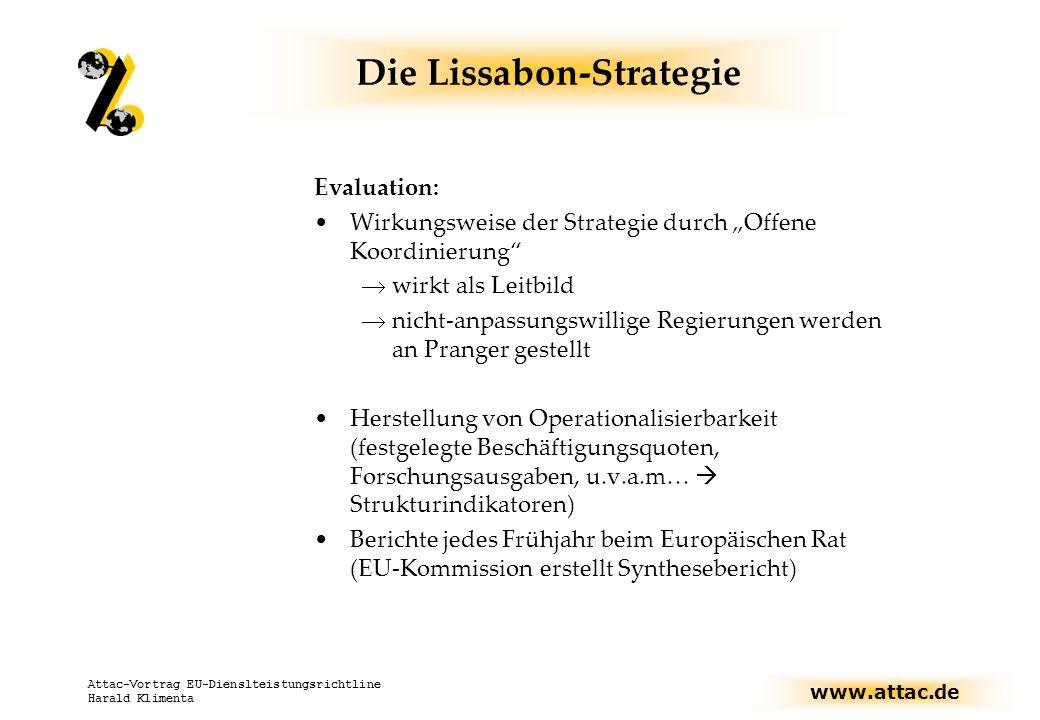 www.attac.de Attac-Vortrag EU-Dienslteistungsrichtline Harald Klimenta EU der Bürger.