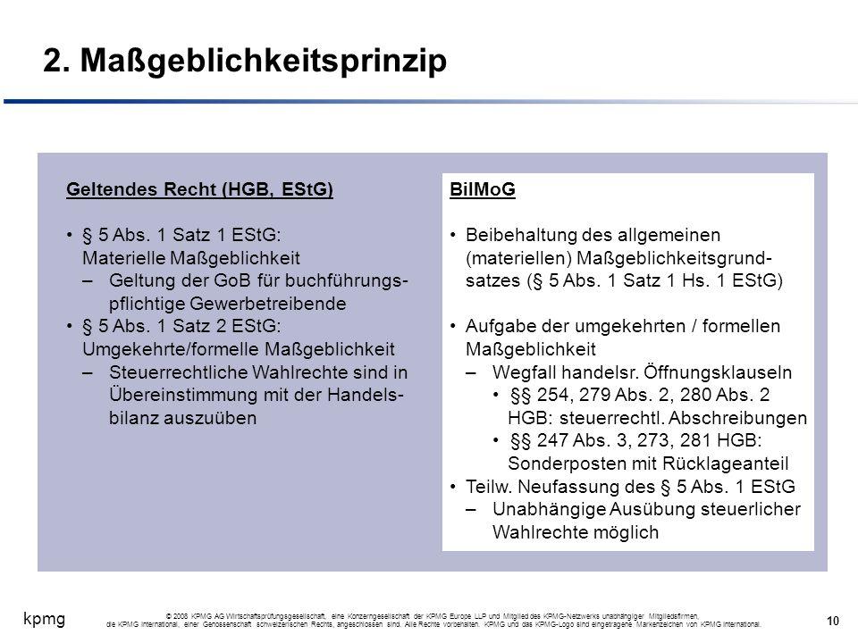 kpmg 10 © 2008 KPMG AG Wirtschaftsprüfungsgesellschaft, eine Konzerngesellschaft der KPMG Europe LLP und Mitglied des KPMG-Netzwerks unabhängiger Mitg