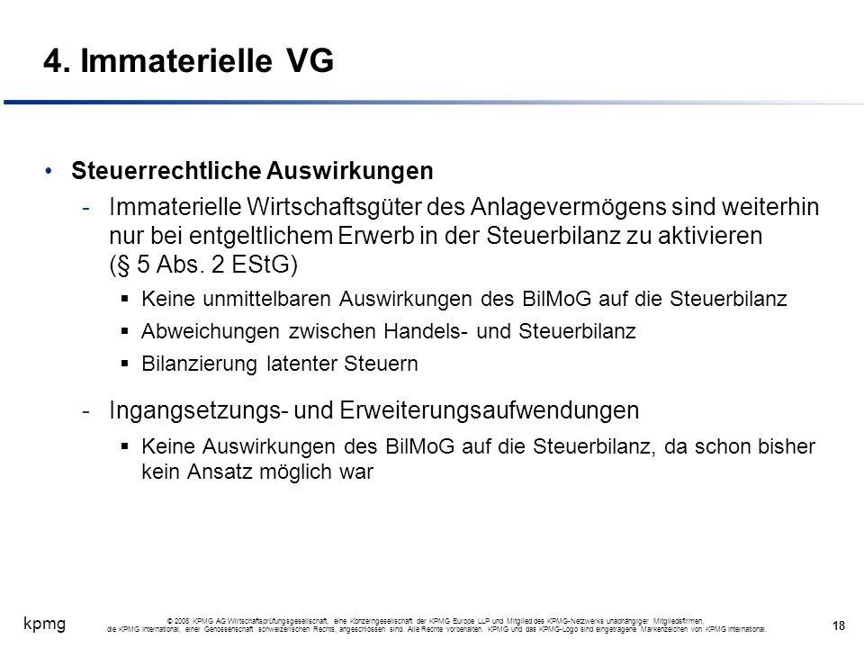 kpmg 18 © 2008 KPMG AG Wirtschaftsprüfungsgesellschaft, eine Konzerngesellschaft der KPMG Europe LLP und Mitglied des KPMG-Netzwerks unabhängiger Mitg