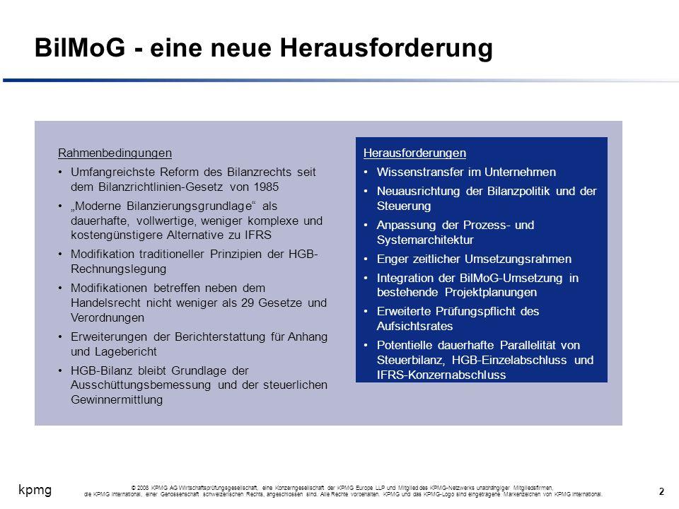 kpmg 2 © 2008 KPMG AG Wirtschaftsprüfungsgesellschaft, eine Konzerngesellschaft der KPMG Europe LLP und Mitglied des KPMG-Netzwerks unabhängiger Mitgl