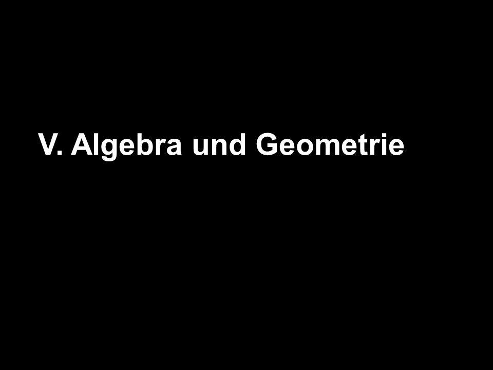 V. Algebra und Geometrie