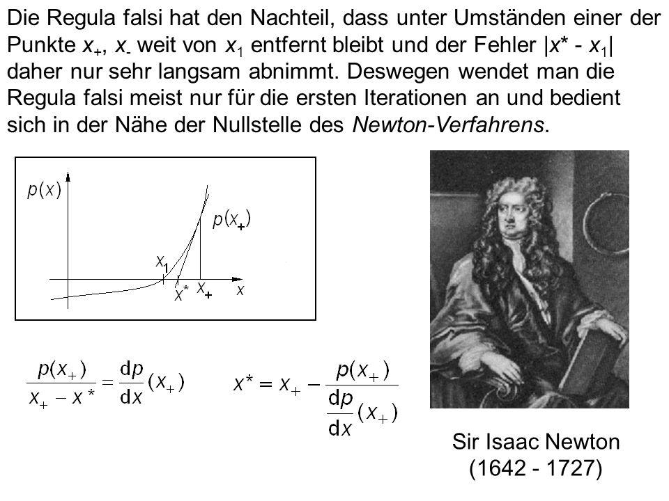 15.2 Approximation der Nullstellen Führt Erraten nicht zum Ziel und ist eine geschlossene Lösung nicht möglich oder zu aufwendig, so bedient man sich