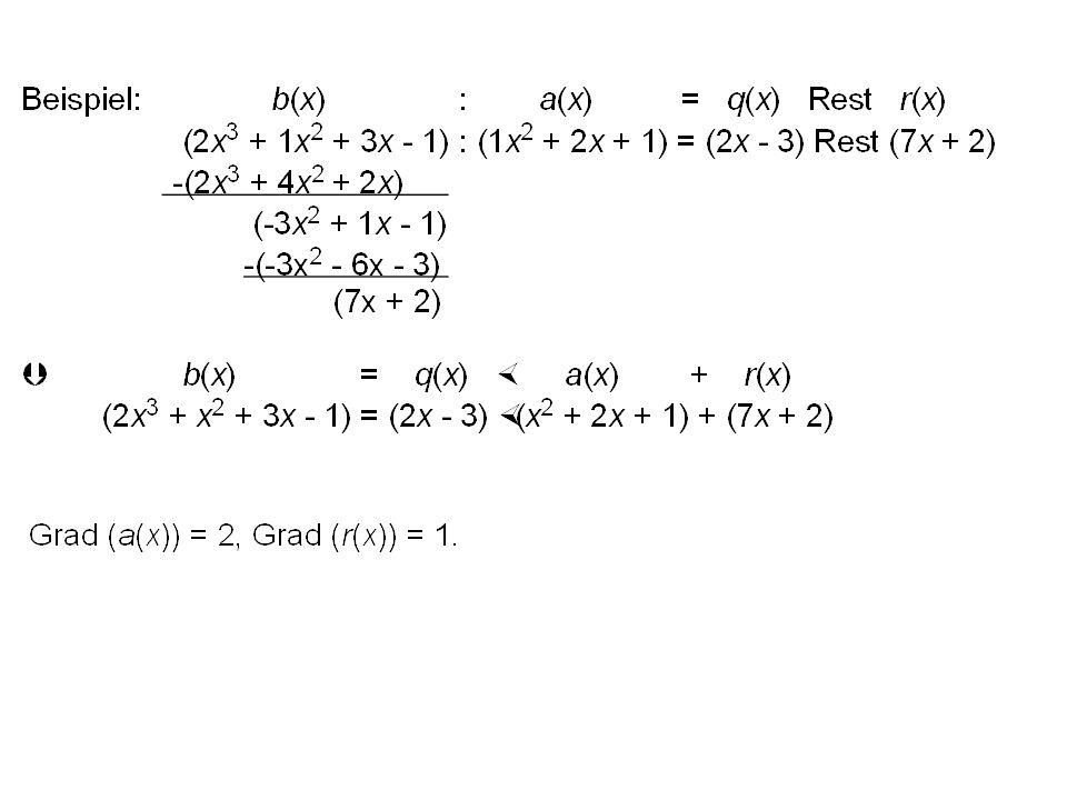 Ein mathematisches System, das außer dem letzten alle Axiome eines Körpers erfüllt, heißt kommutativer Ring mit Eins. Falls die Multiplikation nicht k